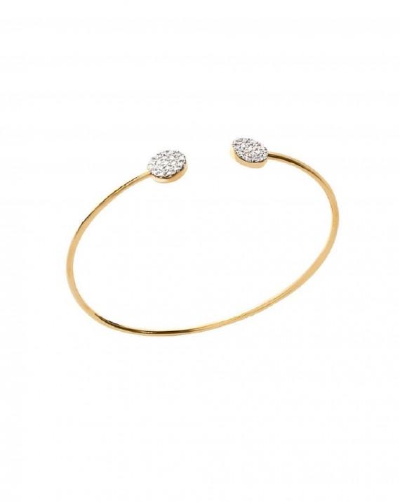 se connecter large choix de couleurs et de dessins vraie qualité Bracelet Jonc Ouvert Duo Pastilles Brillants