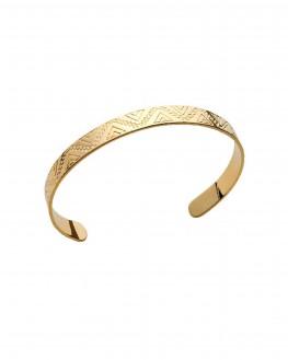 Acheter bracelet jonc ouvert ethnique en plaqué or - Bijoux de créateur femme - Madame Vedette