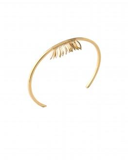 Bracelet jonc ouvert pétales plaqué or - Bijoux tendance mode vus sur Instagram - Madame Vedette