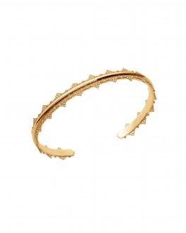 Acheter bracelet femme jonc ouvert dentelle en plaqué or - Création de bijoux - Madame Vedette
