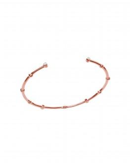 Bracelet jonc ouvert plaqué or rose brillants - Bijoux créateur mode tendance - Madame Vedette