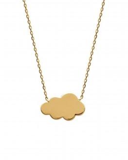 Collier chaîne pendentif nuage plaqué or - Création tendance femme - Madame Vedette