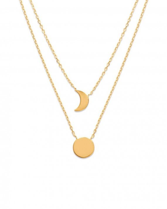double collier lune