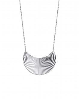 Collier chaîne argent 925 pendentif demi lune - Bijoux créateur vu sur Instagram - Madame Vedette