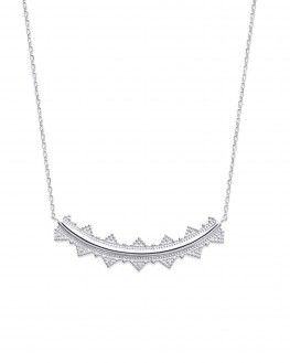 Collier chaîne argent 925 pendentif dentelle - Bijoux créateur tendance du moment - Madame Vedette