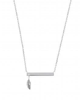 Collection tendance collier chaîne argent 925 plume femme - Bijoux créateur - Madame Vedette