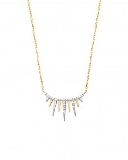 Collier chaîne plaqué or griffes brillants - Bijoux créateur tendance vus sur Instagram - Madame Vedette