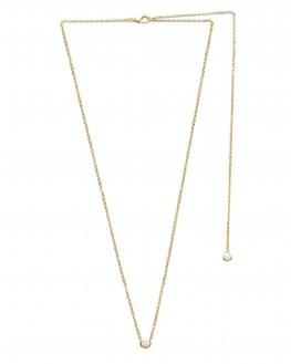 Collier chaîne plaqué or soirée dos nu pendentifs  brillants - Création bijoux tendance - Madame Vedette