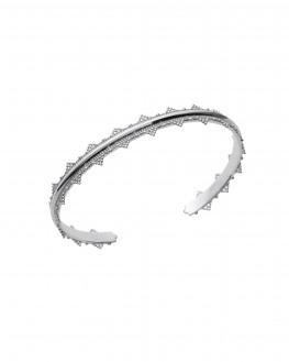 Bracelet argent 925 jonc ouvert dentelle - Bijoux créateur - Madame Vedette