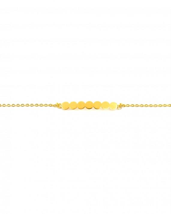 Tendance bracelet femme chaîne plaqué or et motifs pastilles - Bijoux de créateur - Madame Vedette
