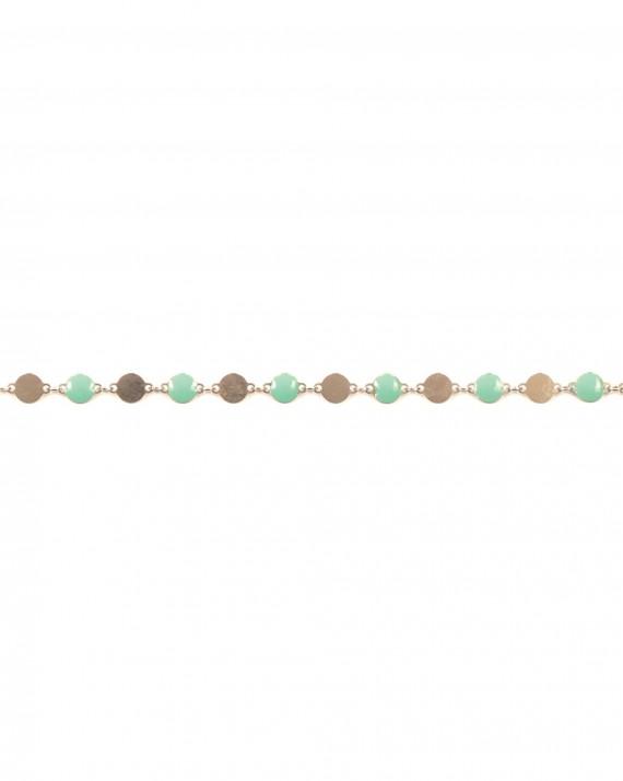 Bracelet femme original argent 925 et pastilles couleur - Bijoux de créateurs Paris - Madame Vedette