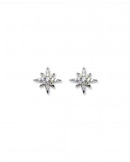 Boucles d'oreilles argent 925 brillants zircon - Bijoux création Paris - Madame Vedette