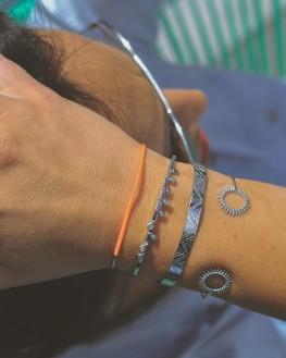 Composition bracelets femme joncs ouverts argent 925 - Bijoux de créateur - Madame Vedette