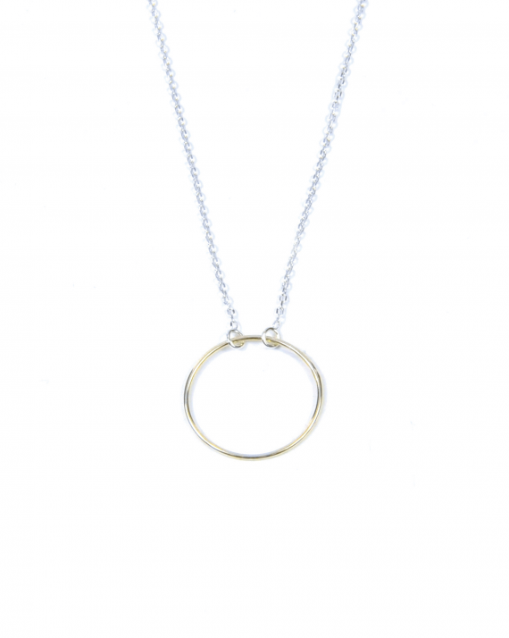 Collier chaîne argent 925 anneau simple - Madame Vedette