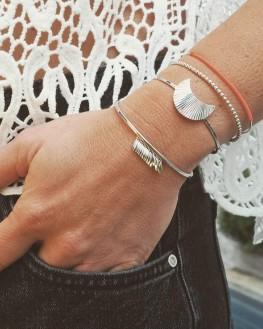 Bracelet jonc fin argent 925 fil couleur - Bijoux créateur tendance été - Madame Vedette