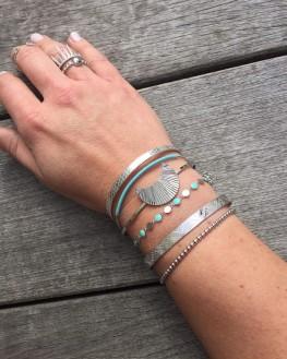 Bracelet jonc fin fil couleur tendance femme Instagram - Bijoux créateur mode à offrir - Madame Vedette