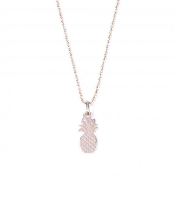 Collier chaîne boules argent 925 pour femme pendentif ananas - Madame Vedette