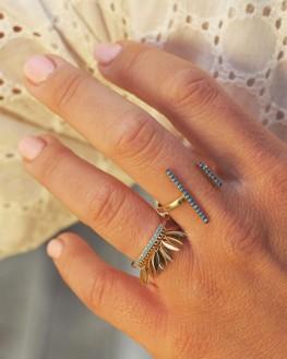 Bague tendance dorée à l'or fin pour femme - Bijoux créateur idée cadeau - Madame Vedette