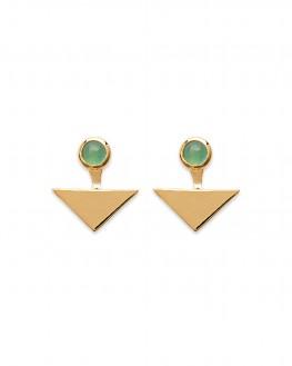 Boucles d'oreilles tendance plaqué or motif triangle - Bijoux créateur mode - Madame Vedette