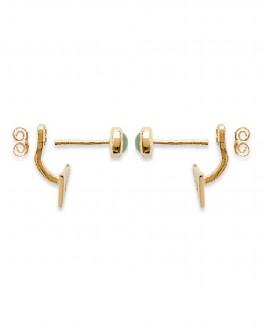 Boucles d'oreilles triangle dorées or fin - Madame Vedette Bijoux