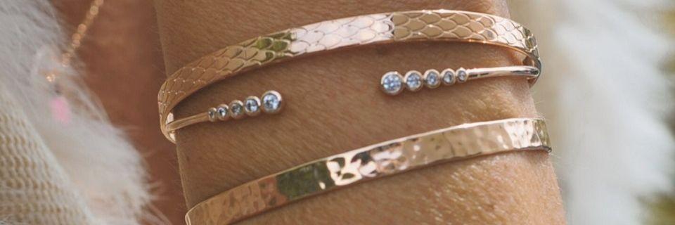 Bracelets en plaqué or rose pour femme | Madame Vedette