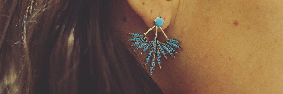 Boucles d'oreilles en plaqué or rose pour femme | Madame Vedette