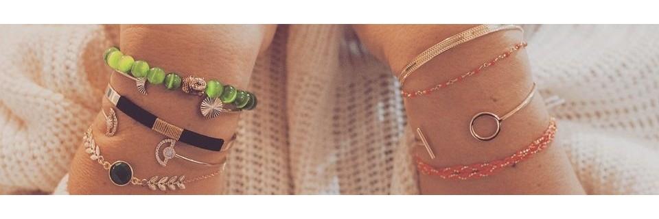 Collection de bracelets en argent 925 et plaqué or par Madame Vedette