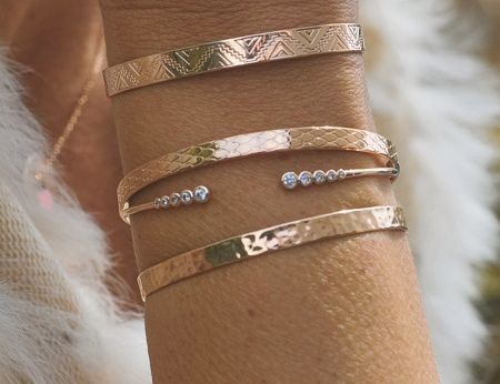 Composition bracelets femme argent 925 et plaqué or - Bijoux créateur par Madame Vedette
